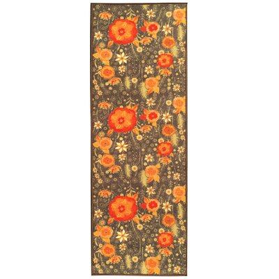 Sweet Home Floral Brown Area Rug Rug Size: Rectangle 33 x 411