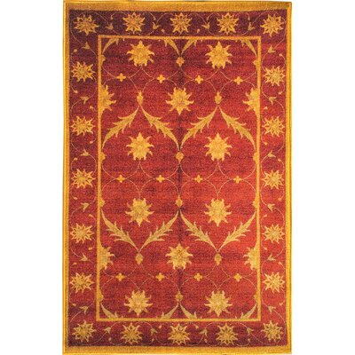 Sweet Home Trellis Red Area Rug Rug Size: 5 x 7