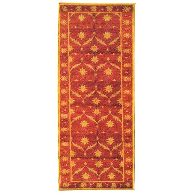 Sweet Home Trellis Red Area Rug Rug Size: Rectangle 16 x 49