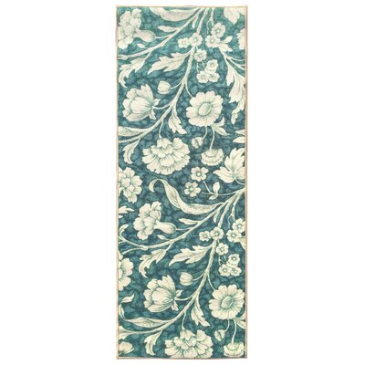 Sweet Home Floral Blue Area Rug Rug Size: Rectangle 18 x 411