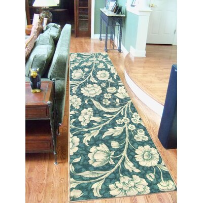Sweet Home Floral Blue Area Rug Rug Size: 18 x 411
