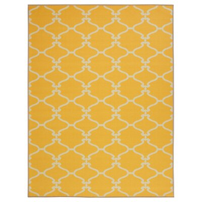 Clifton Yellow Area Rug Rug Size: 710 x 910