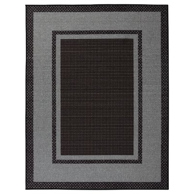 Clifton Black Area Rug Rug Size: 710 x 910