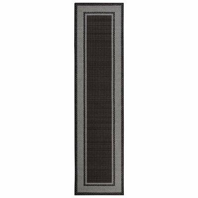 Clifton Black Area Rug Rug Size: Runner 27 x 10