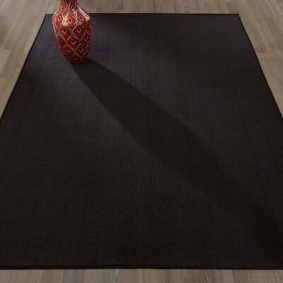 Clifton Black Area Rug Rug Size: 5 x 66