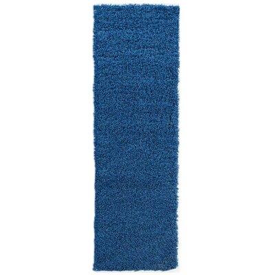 Cozy Shag Navy Blue Area Rug Rug Size: 5 x 7