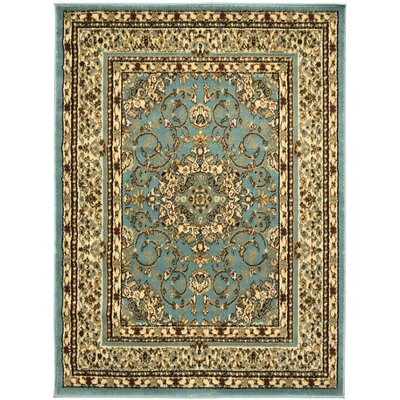 King Isfahan Blue Teal Area Rug Rug Size: 710 x 910