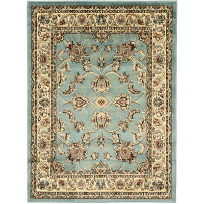 King Mahal Blue Teal Area Rug