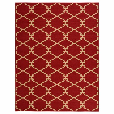 Clifton Machine Wooven Red Area Rug Rug Size: 5 x 66
