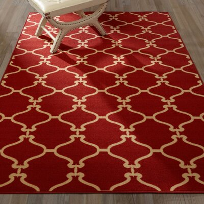 Clifton Machine Wooven Red Area Rug Rug Size: Rectangle 5 x 66