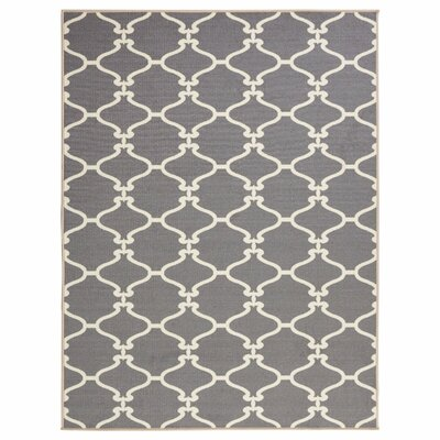 Clifton Grey Area Rug Rug Size: 710 x 910
