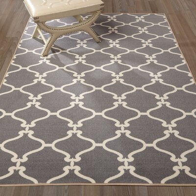Clifton Grey Area Rug Rug Size: Rectangle 710 x 910
