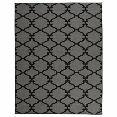 Clifton Dark Grey Area Rug Rug Size: 710 x 910