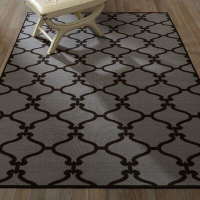 Clifton Dark Grey Area Rug Rug Size: Rectangle 5 x 66