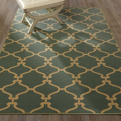 Clifton Teal Area Rug Rug Size: Rectangle 5 x 66