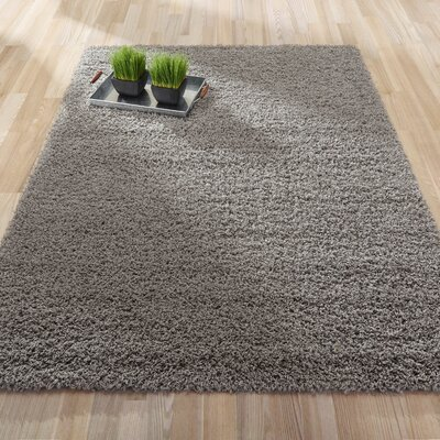 Cozy Shag Machine Woven Mat Color: Grey