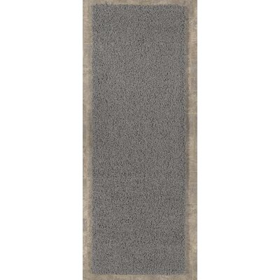 Cozy Gray Area Rug Rug Size: Runner 27 x 8