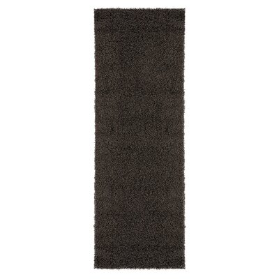 Cozy Charcoal Area Rug Rug Size: Runner 27 x 8