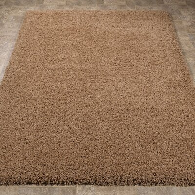 Ultimate Shaggy Soft Cozy Beige Area Rug Rug Size: 67 x 93
