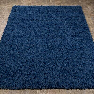 Cozy Shag Navy Blue Area Rug Rug Size: 33 x 47
