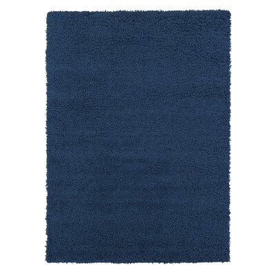 Navy Blue Area Rug Rug Size: Rectangle 67 x 93