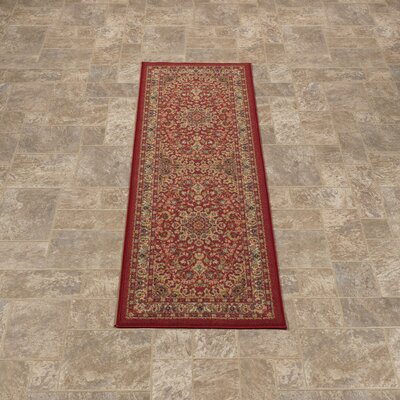 Sweet Home Medallion Red Area Rug Rug Size: Rectangle 5 x 66