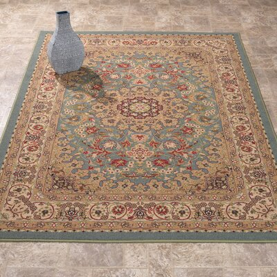 Reggie Medallion Ocean Green Area Rug Rug Size: Rectangle 33 x 411