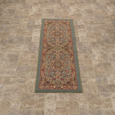 Sweet Home Medallion Ocean Green Area Rug Rug Size: Runner 23 x 6