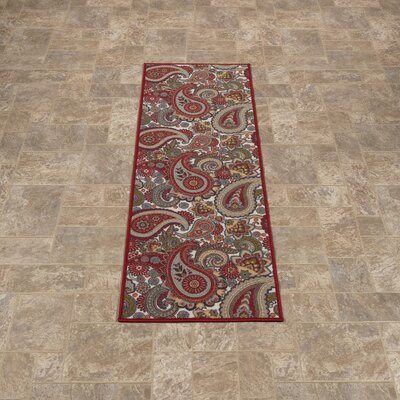 Sweet Home Paisley Cream Area Rug Rug Size: Runner 23 x 6