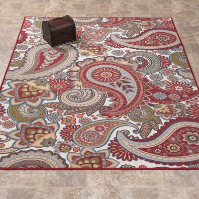 Sweet Home Paisley Cream Area Rug Rug Size: Rectangle 5 x 66