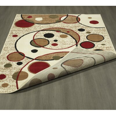 Clifton Beige Area Rug Rug Size: 710 x 910