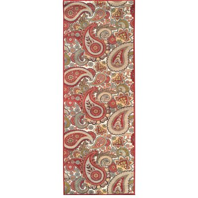 Sweet Home Paisley Cream Area Rug Rug Size: Rectangle 18 x 411