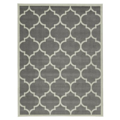 Clifton Gray Area Rug Rug Size: 5 x 7