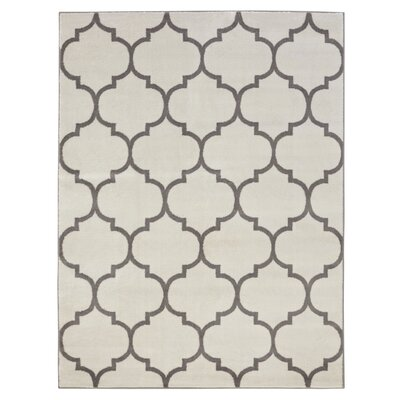 King Cream Area Rug Rug Size: 53 x 7