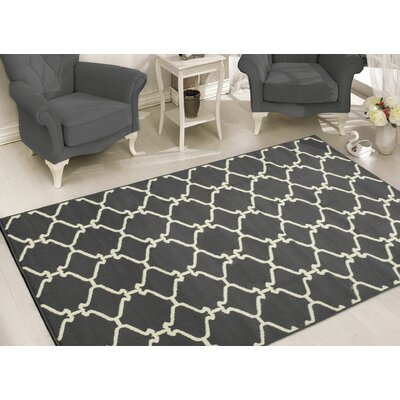Clifton Light Gray Area Rug Rug Size: 710 x 910