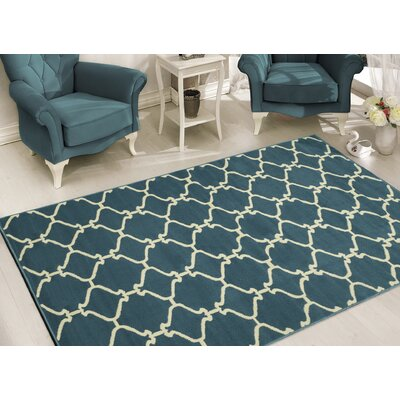Clifton Blue Area Rug Rug Size: 5 x 7
