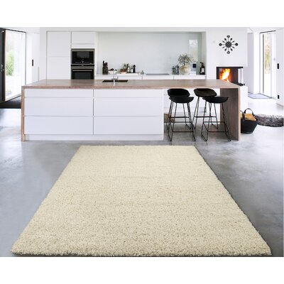 Cozy Ivory Area Rug Rug Size: Rectangle 33 x 5