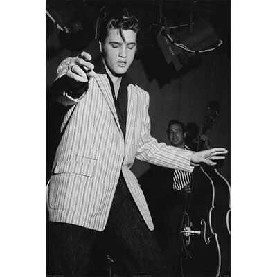 'Elvis Dancing Young Elvis' by Corbis Photographic Print on Wrapped Canvas Size: 18