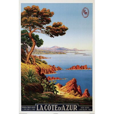 'La Cote d'Azur Travel' by Public Domain Vintage Advertisement on Wrapped Canvas 36134CM