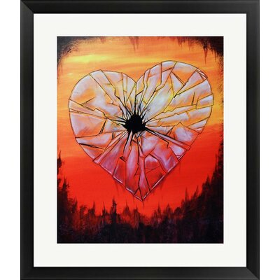 'Glass Heart' Framed Acrylic Painting Print on Paper