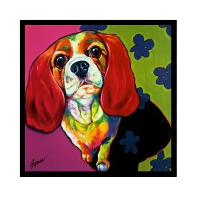 'Cute Puppy Beagle' Framed Graphic Art Print Poster