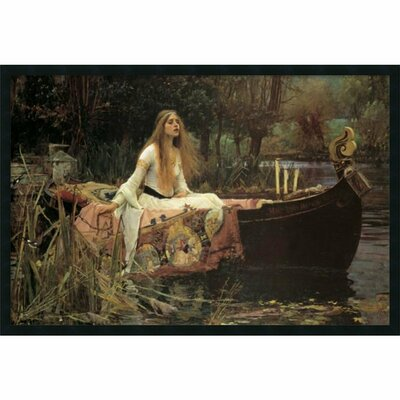 'Lady of Shalott' by John Waterhouse Framed Graphic Art Print