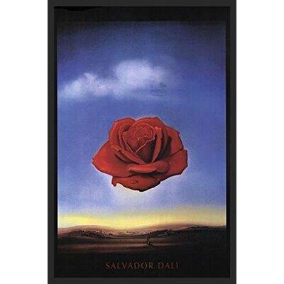 'Meditative Rose C 1958' by Salvador Dali Framed Graphic Art Print