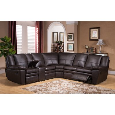Oregon Leather Reclining Sectional