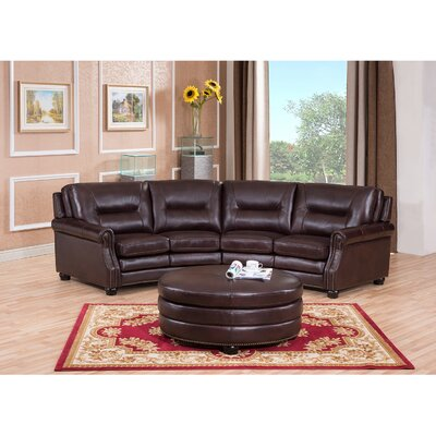 Burnaby Leather Sectional with Ottoman