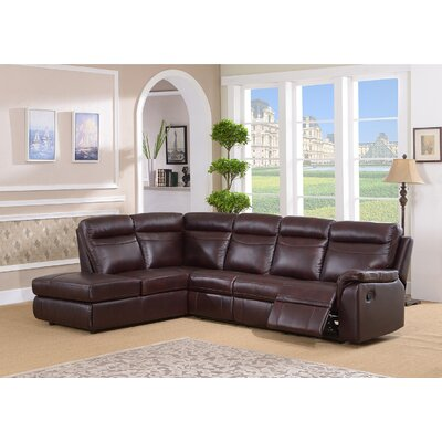 Portland Leather Reclining Sectional