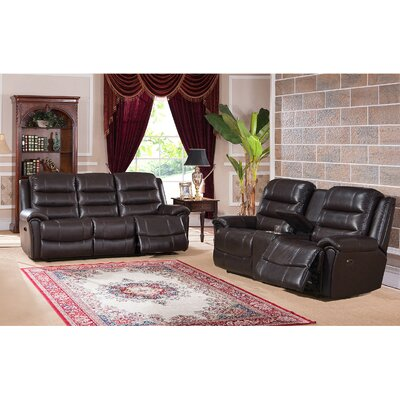 Astoria 2 Piece Leather Living Room Set