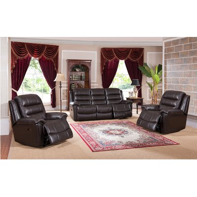 Astoria 3 Piece Leather Living Room Set