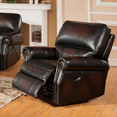 Nevada Leather Manual Recliner