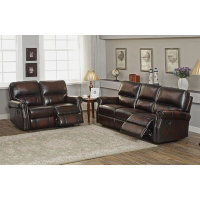 Nevada 2 Piece Leather Living Room Set